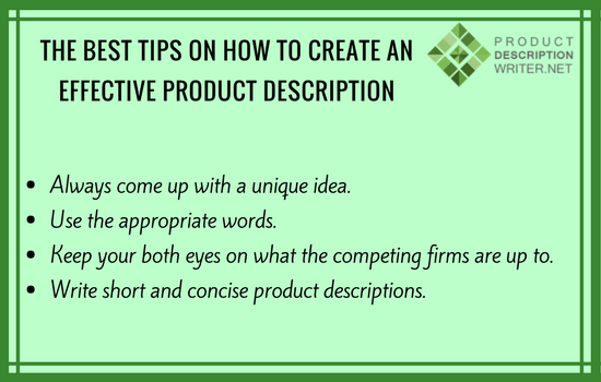 best product description tips